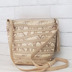 Sharif Crossbody Dome Bag Snake Embossed